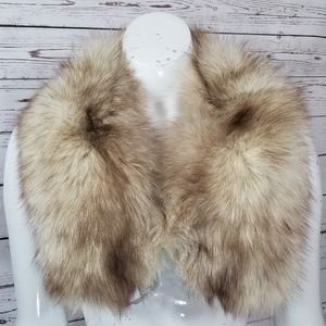 Vintage Genuine THICK Polar Arctic Fox Fur Collar